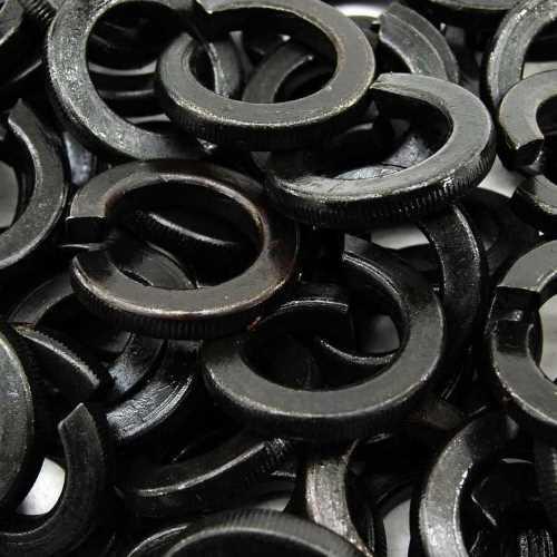 DIN 127 Federringe Form B in schwarz brüniert