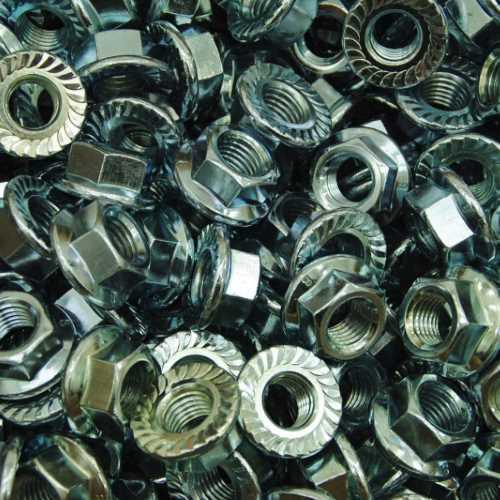Sperrzahnmuttern ähnlich DIN 6923 / DIN EN ISO 6923 galvanisch verzinkt Kl. 8