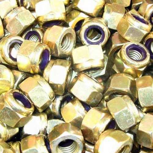 10 St/ück Sicherungsmutter DIN 985 Verzinkter Stahl, M10 Stahl galvanisch verzinkt