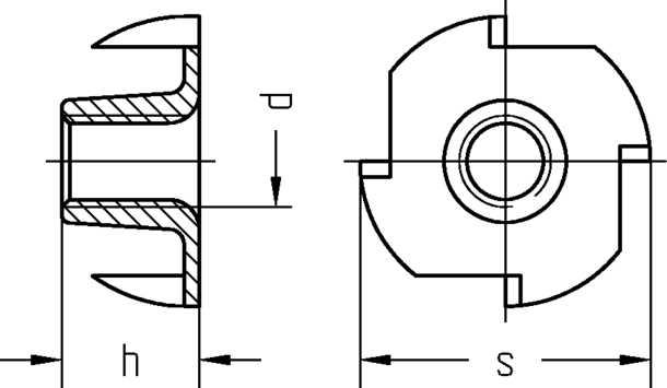 Der Flanschdurchmesser von Einschlagmuttern DIN 6930 / ISO 6930g