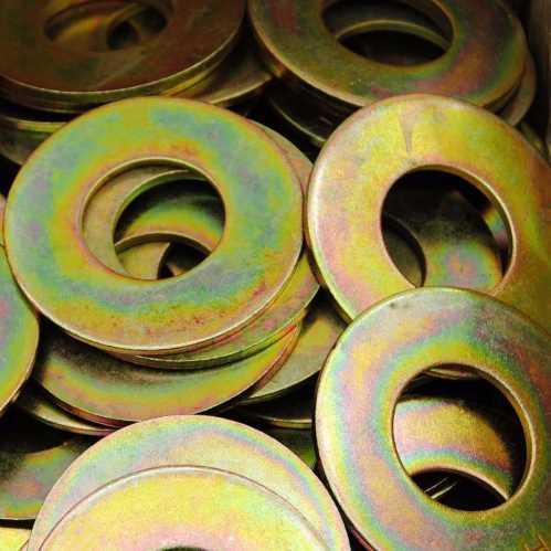 Große Unterlegscheiben DIN 9021 / DIN EN ISO 7093 gelb verzinkt