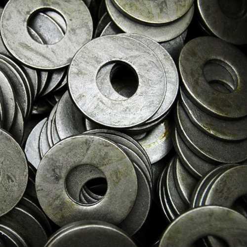 Holzbauscheiben Stahl blank DIN 440 Form R mit Rundloch