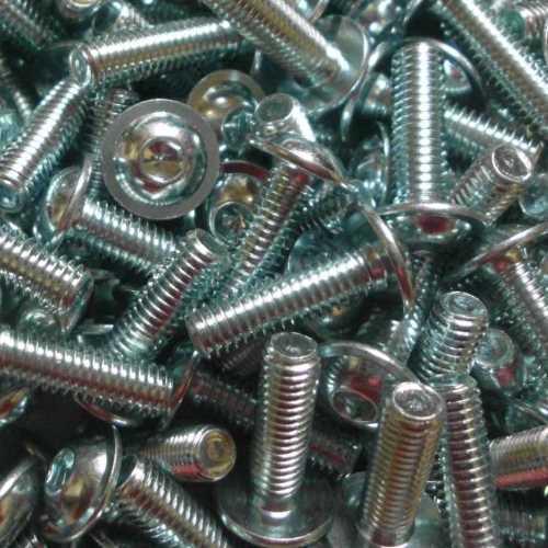 ISO 7380-2 Linsenkopfschrauben mit Innensechskant und Bund galvanisch verzinkt 10.9
