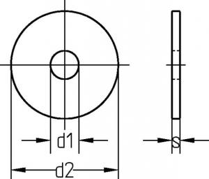 K-Scheiben / Kotflügelscheiben / Karosseriescheiben DIN 522 galvanisch verzinkt