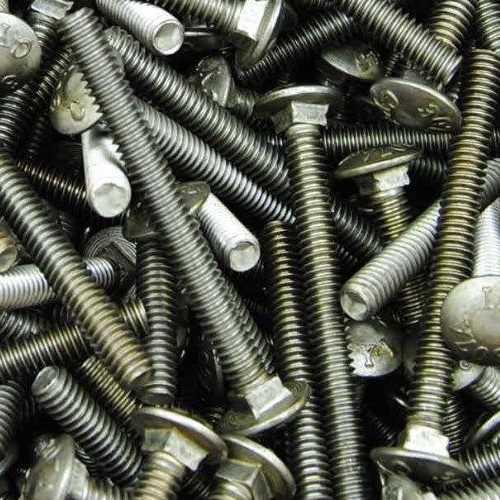 Schloßschrauben DIN 603 Stahl blank