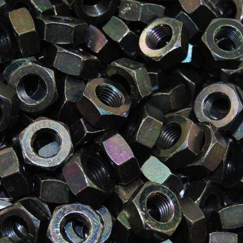 Sechskantmuttern DIN 934 / DIN-EN-ISO 4032 schwarz verzinkt in Klasse 8 aus Stahl
