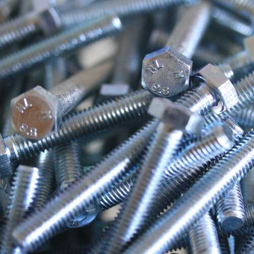 Sechskantschrauben DIN 933 / DIN-EN-ISO 4017 galvanisch verzinkt 8.8 M4