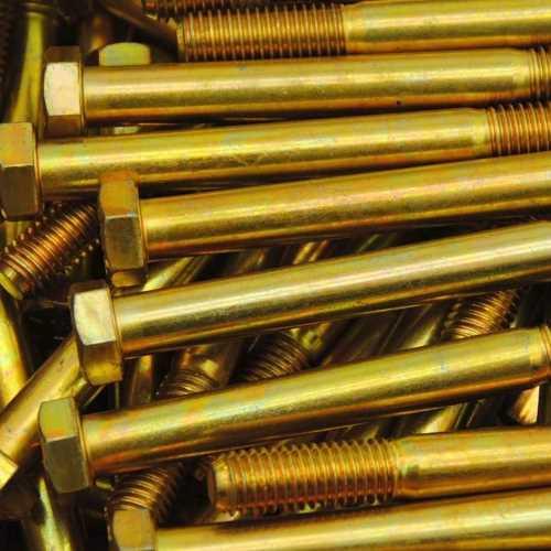 Sechskantschrauben mit Schaft DIN 931 gelb verzinkt ( A3C )