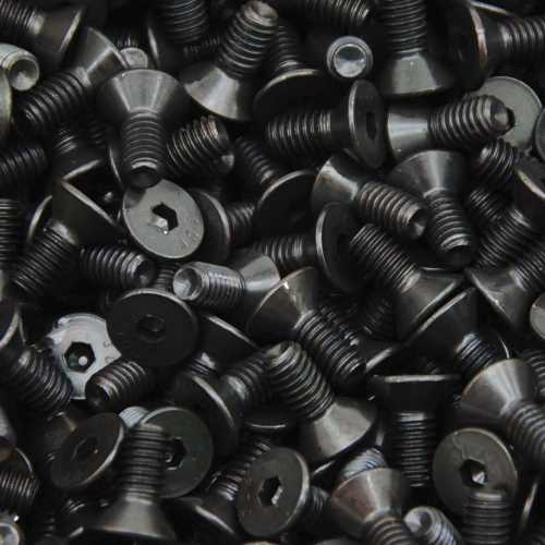 Senkschrauben mit Innensechskant DIN 7991 / DIN EN ISO 10642 schwarz brüniert mit Güte 8.8