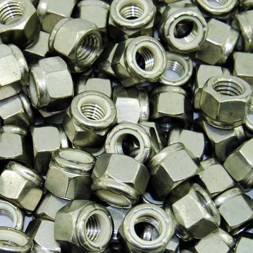 Sicherungsmuttern DIN 985 Edelstahl A4-80 Rostfrei und Säurefest