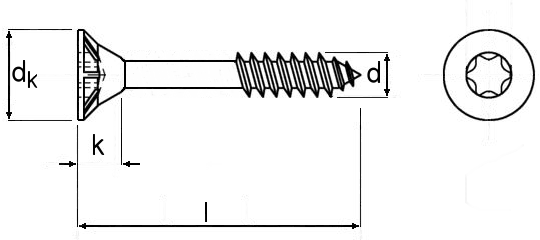 Spanplattenschrauben Torx gelb verzinkt Restposten mit Teilgewinde