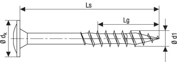 Technische Zeichnung Spax Tellerkopfschrauben Torx Teilgewinde 6,0 mm WIROX