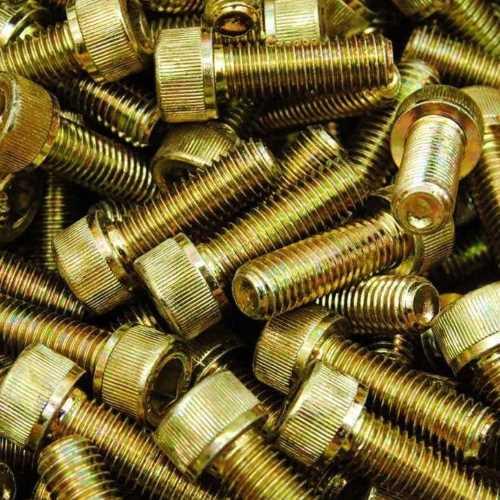 DIN 912 Zylinderschrauben mit Innensechskant gelb verzinkt ( A2L ) mit Güte 8.8